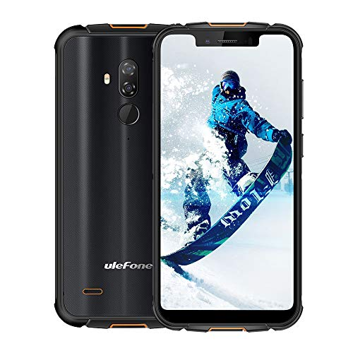 Rugged Cell Phones Unlocked,Ulefone Armor 5S IP68 Dropproof Waterproof Smartphones,Octa-Core 4GB+64GB ROM 5.85″ FHD+ Screen Android 9.0 5000mAh Battery Global 4G LTE Dual SIM Rugged Phones-Black