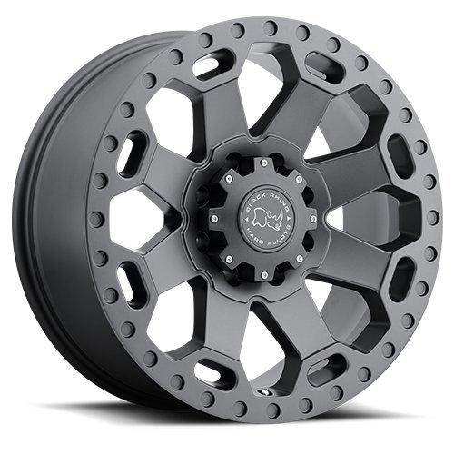 BLACK RHINO WARLORD 17x9.0 8//165 ET12 CB122.1 MATTE GUNMETAL