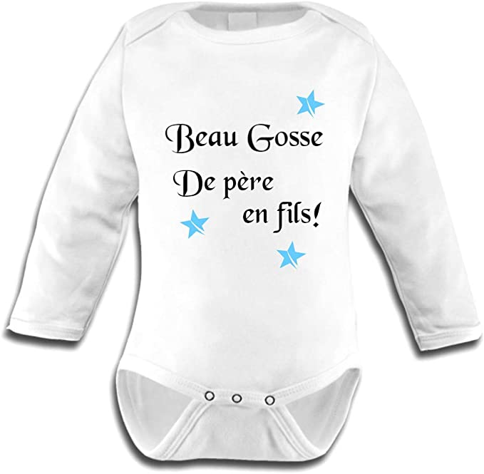 100/% Coton Cadeau de Naissance Manches Longues b/éb/é Parfait Humour Texte Rigolo bodybebepersonnalise.fr Body pour b/éb/é