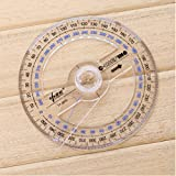 200PC All Circular 10Cm Plastic 360 Degree Pointer Protractor Ruler Angle Finder Swing Arm For School Office Supplies