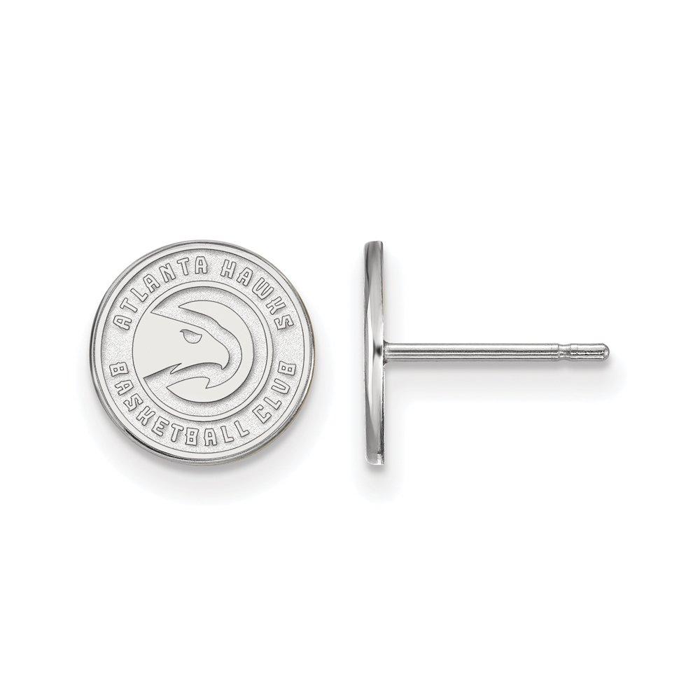 NBA Atlanta Hawks X-Small Post Earrings in Sterling Silver