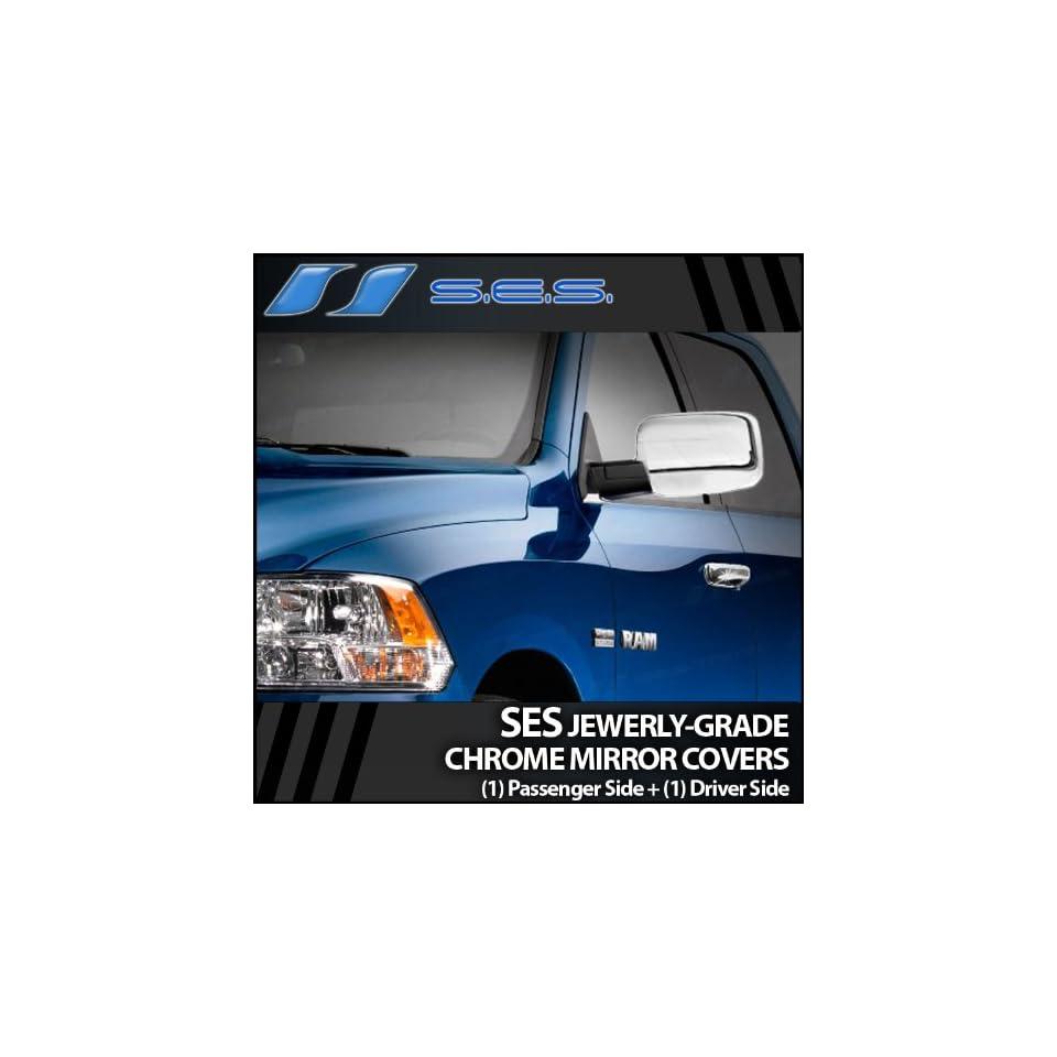 2009 2012 Dodge Ram SES Chrome Mirror Covers (w/o turn