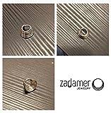 TITANIUM Quintuple (5-Ring) Septum Ring Hinged Clicker. 14G 7mm or 9mm Inner Diameter