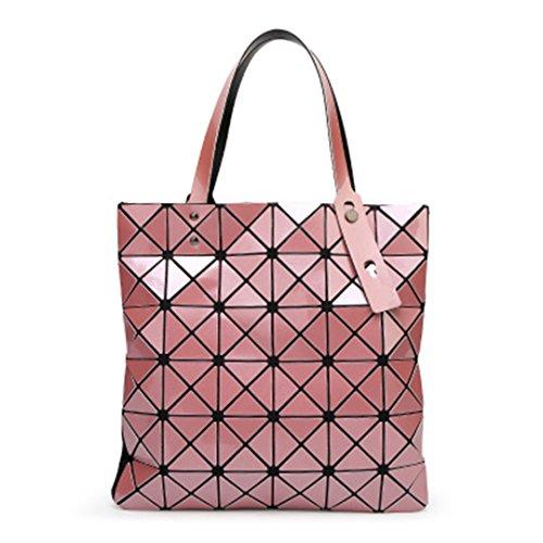 Pink Bolsos Top Handbags acolchadas Cuadros Láser Fake Femeninos las de 5X32 Diamante Handle Handbags Bolsos Geometría Verano mujeres blue plegables 5cm Bag Designer A Handbags 32 qnAzUWx7S