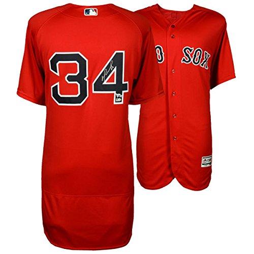 (DAVID ORTIZ Boston Red Sox Autographed Majestic Authentic Red Jersey FANATICS)