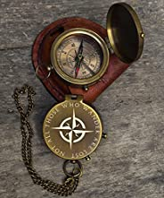 Rays Decor Engraved Compass, Personalized Brass Nautical Compass, Nautical Gift, Personalized Gift, Fathers Gi