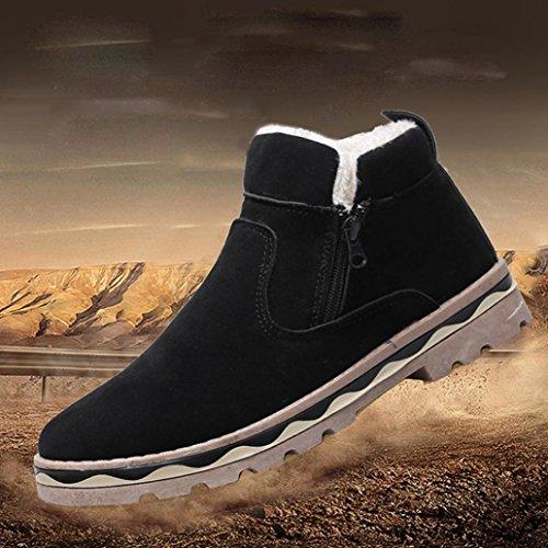 Scarpe Invernali Stivali con Uomo Boot in Nero Cerniera Stivaletti Uomo Casual Inverno Pelle Eleganti Stivali da Top Martin Neve Beauty xz4ZIY