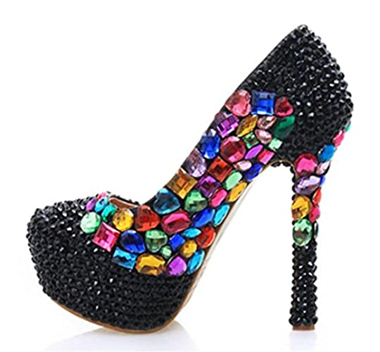 Korkokengät Kengät Upea Naisten Morsiamen Glitter Iltamat Timantti Väri Häät Kristalli Kitzen 7CvHqnx6H