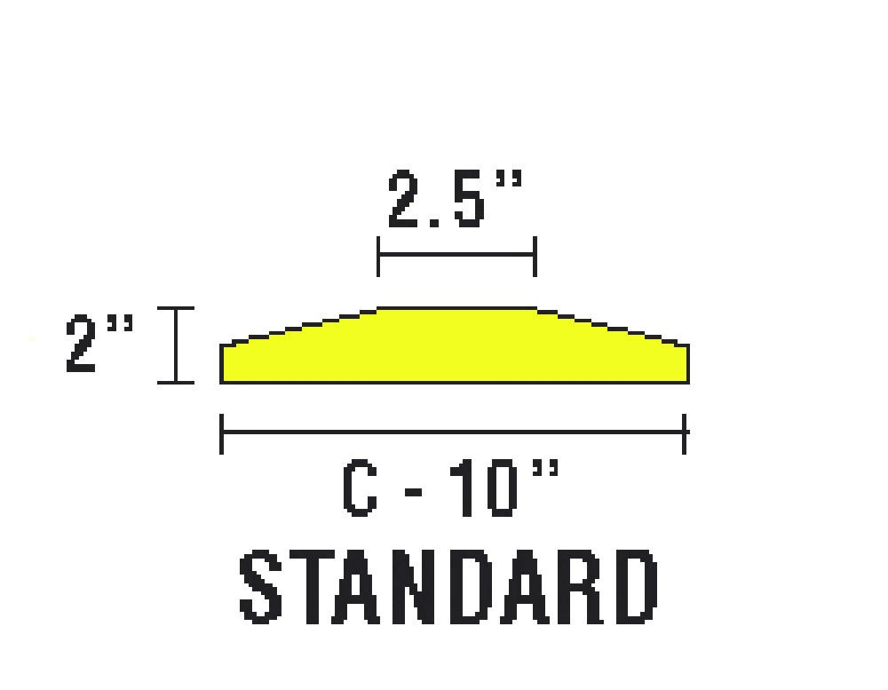 Checkers SB6S-S Recycled Plastic Standard 6' Speed Bump with Hardware, Yellow, 72'' Length x 10'' Width x 2'' Height by Checkers Industrial Safety Products (Image #2)