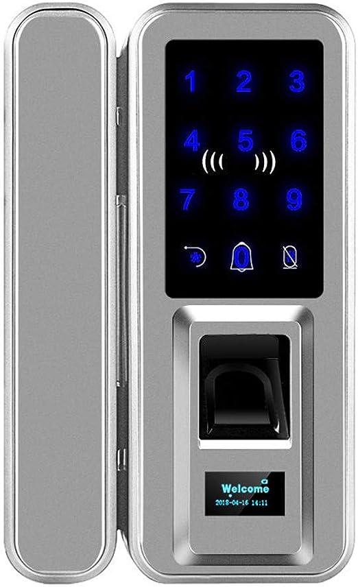 YJF-ZWS Huella Digital Contraseña Cerradura Oficina Puerta de Vidrio Puerta corrediza Apertura Libre Cableado Doble Acceso Tarjeta electrónica Cerradura de Puerta Inteligente: Amazon.es: Hogar