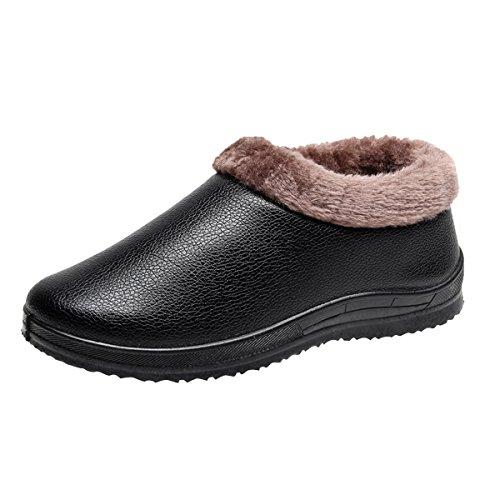 VFDB Women Men Snow Ankle Boots Warm Winter Outdoor Waterproof Slipper Shoes Slip On Snow Booties