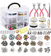 EuTengHao Jewelry Making Supplies Kit Includes Assorted Beads,Jewelry Charms Findings,Pearl,Space...