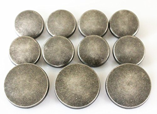 YCEE 11 Pieces Vintage Antique Silver Metal Blazer Button Set - Flat Surface - For Blazer, Suits, Sport Coat, Uniform, Jacket from YCEE Studio