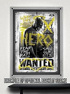 """Batman v Superman """"Wanted Hero"""" MightyPrint Wall Art Print at Gotham City Store"""