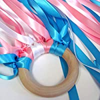 MDH Toys Handcrafted Flora Blossom Waldorf Ribbon Hand Kite Wind Wand