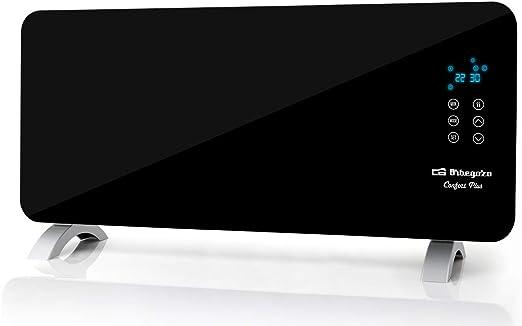 Orbegozo REH 2050 – Panel radiante con frontal de cristal templado en color negro, apto para baño, mando a distancia y temporizador. 2000 W de potencia.: Amazon.es: Hogar