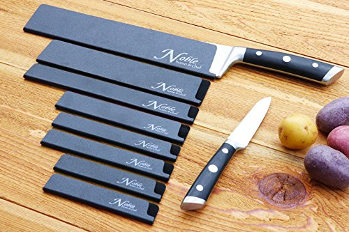 8-Piece Universal Knife Edge Guards are More Durable, BPA-Free, Gentle on Your Blades, and Long-Lasting. Noble Home & Chef Knife Covers Are Non-Toxic and Abrasion Resistant! (Knives Not Included) by Noble Home & Chef (Image #7)
