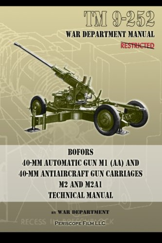 TM 9-252 Bofors 40-mm Automatic Gun M1 (AA) and 40-mm Antiaircraft Gun Carriages: M2 and M2A1 Technical (Anti Aircraft Guns Wwii)