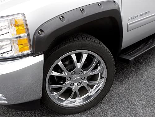 For Toyota Tundra 14-19 Fender Flares Elite Series RX-Rivet Style Smooth Black