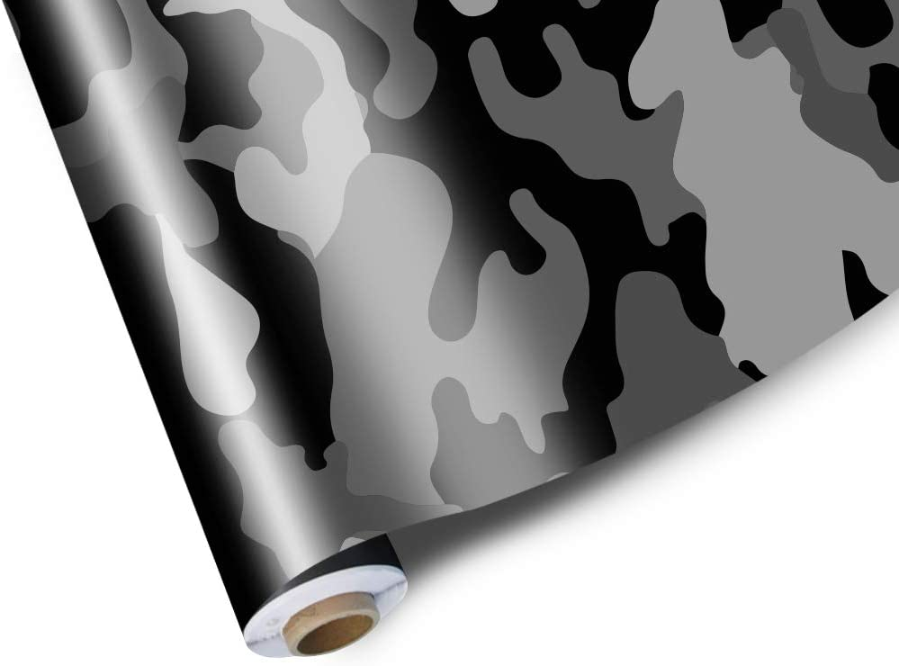 Snow Camo Camouflage Vinyl Film Wrap Decal Air Bubble Free With Free Tool Kit