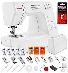 Janome HD3000 Heavy Duty Sewing Machine w/Hard Case + Ultra Glide Foot + Blind Hem Foot + Overedge Foot + Rolled Hem Foot + Zipper Foot