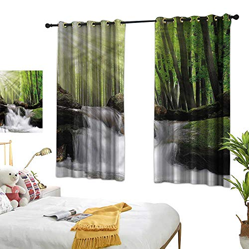 Lightly Eclipse Curtains Waterfall,Long Green Trees Photo 84
