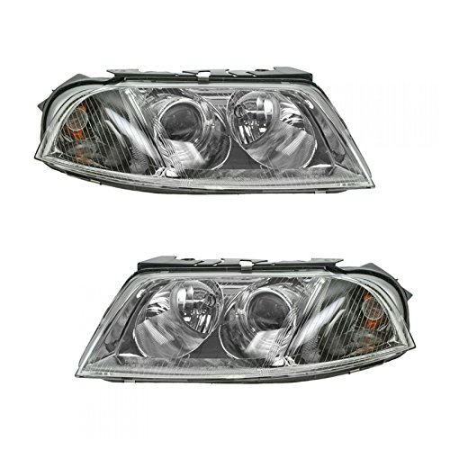 Halogen Headlights Headlamps Left & Right Pair Set for 01-05 VW Passat ()