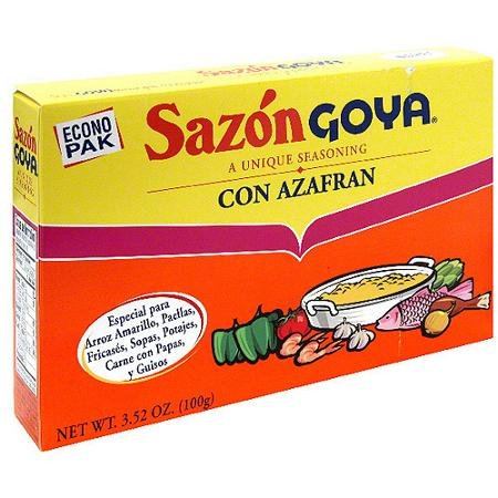 Goya Sazon Con Azafran - 3.52 oz (1 pack)