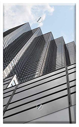 Single-Gang Blank Wall Plate Cover - New York City Bulding View Aerial Manhattan ()