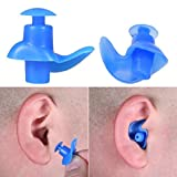 Swimming Earplugs Adult Men Women , 2017 HOT Silicone Swimming Diving Screw Earplugs Waterproof, To prevent water enter your ears (Bule)