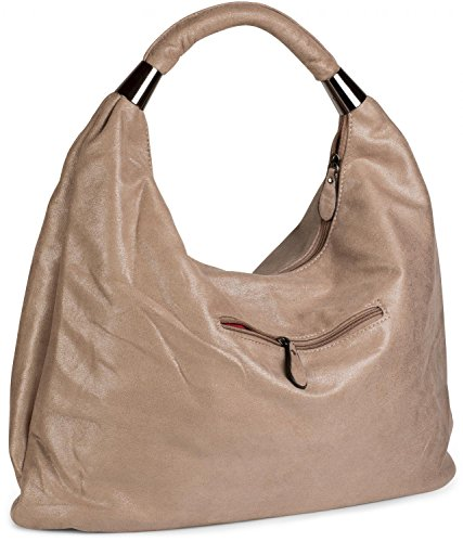 styleBREAKER ladies 02012050 Light design Brown vintage carrying Color handbag Brown pouch bag Shiny bag bag sling Shiny Light zFrz4qw