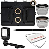 Melamount MM-IPADAIR2 Video Stabilizer Pro Multimedia Rig for Apple iPad Air 2 with LED Video Light + Power Pack + Telephoto & Wide-Angle Lenses + Kit