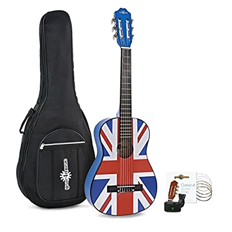 Pack de Guitarra Espanola Junior 1/2 de Gear4music - Union Jack: Amazon.es: Instrumentos musicales