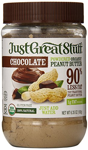 Calories Peanut Butter - Just Great Stuff Powdered Organic Peanut Butter, Chocolate, 6.35 Ounce