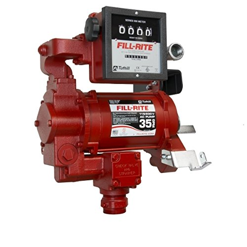 Fill-Rite FR610GA 115V AC Pump, Steel Suction Pipe, 3/4''x12' Hose, Automatic Nozzle (Up to 12 GPM) by Fill-Rite (Image #1)
