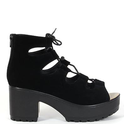 de26db6375ca Korkys Black Block Heel Sandal - D33 Bks  Amazon.co.uk  Shoes   Bags