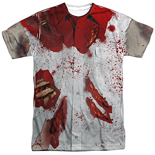 Bloody T Shirt Costume (Zombie Bloody Ripped Costume All Over Print T-Shirt)