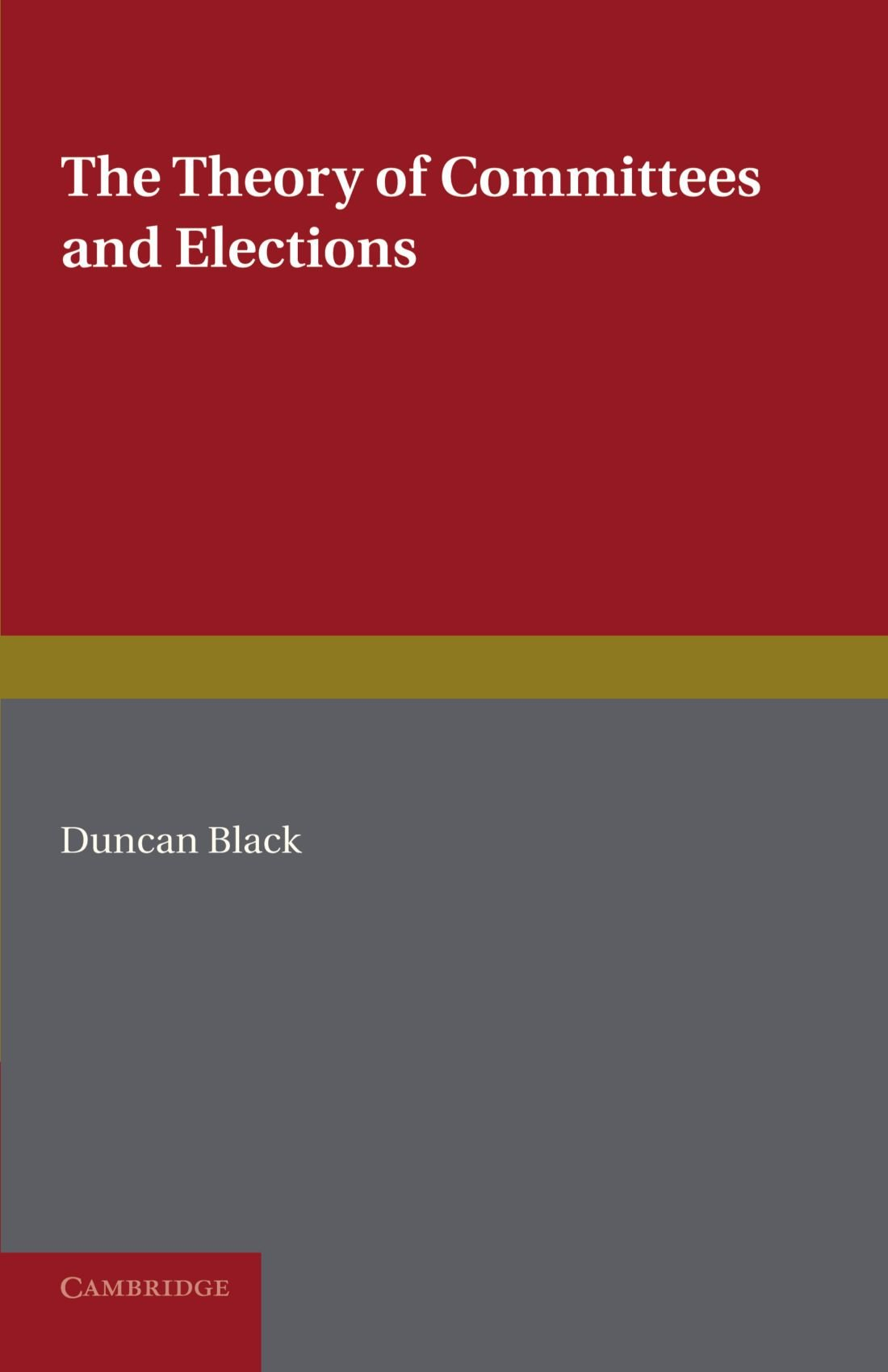 The Theory of Committees and Elections pdf epub