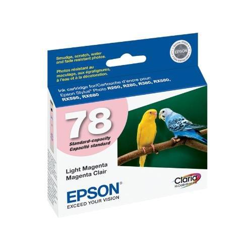 (Epson T078620 OEM Ink - (78) Stylus Photo R260/R280/R380/RX580/RX595/RX680 Artisan 50 Claria Hi-Definition Light Magenta Ink (525 Yield) OEM)