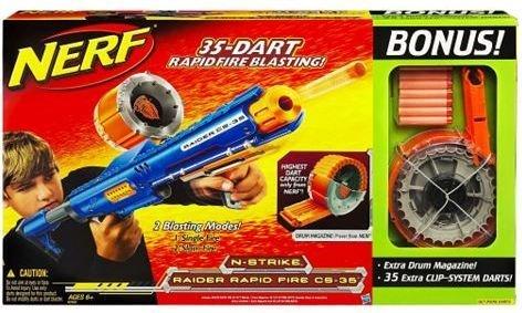 Nerf Raider CS-35 Rapid Fire Gun with Bonus Value Extra Drum Magazine & 35  Cl (B002VLAYQQ) | Amazon price tracker / tracking, Amazon price history  charts, ...