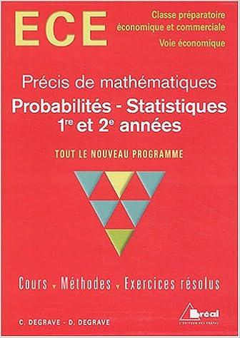 Livre gratuits Probabilités - Statistiques : ECE, 1re et 2e années pdf, epub ebook