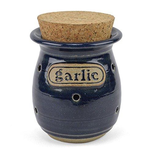 The Potters, LTD Garlic Jar, True Blue