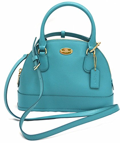 Coach Crossgrain Cadet Blue Leather MINI Cora Domed Satchel price tips cheap