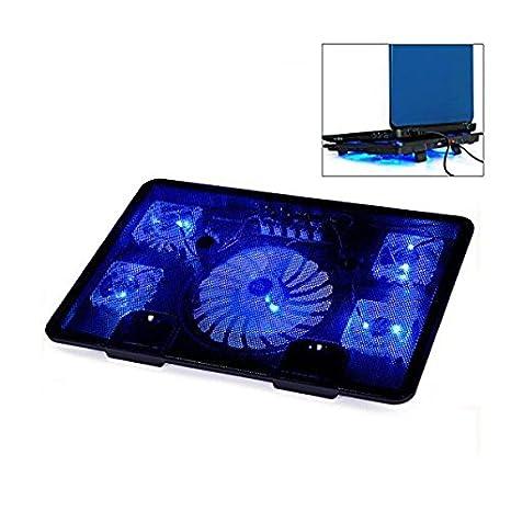 Pegasus Notebook portátil Almohadillas de enfriamiento 5 Ventiladores de enfriamiento del Ordenador portátil del Juego de Base Antideslizante de diseño ...