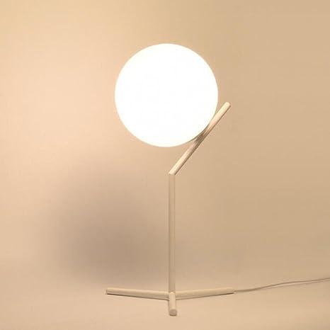 Lights & Lighting Nordic Glass Round Ball Led Table Lamp Bedside Fashion Desk Lampromantic Modern Bedroom Bedside Table Lamps