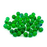 Adorox 48 Pieces Green Rubber Bouncing Balls Glows in The Dark Children Toy Party Favor Prize (Green 48 Balls)
