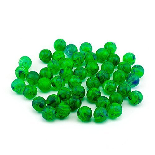 Adorox 48 Pieces Green Rubber Bouncing Balls Glows In The Dark Children Toy Party Favor Prize  Green 48 Balls