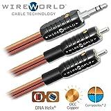 WIREWORLD Nano-Eclipse Audio Mini Jack to 2 RCA Cable - 1.0M