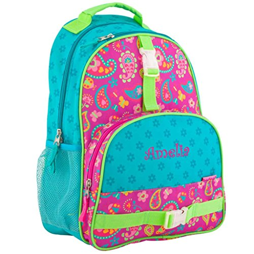 Personalized Trendsetter Backpack (Paisley Hearts and Flowers)