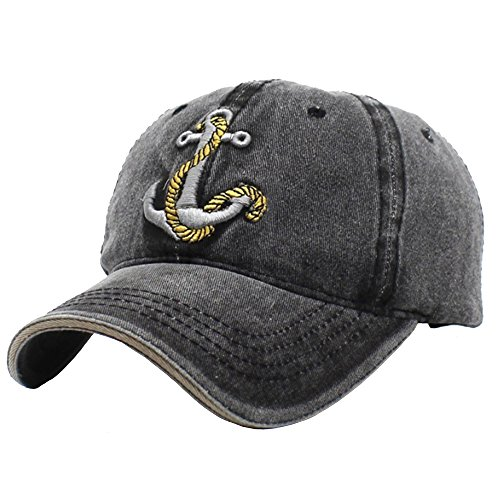 Superhappy Vintage Style The Pirate Ships Anchor Printing Multicolor Adjustable Baseball Cap